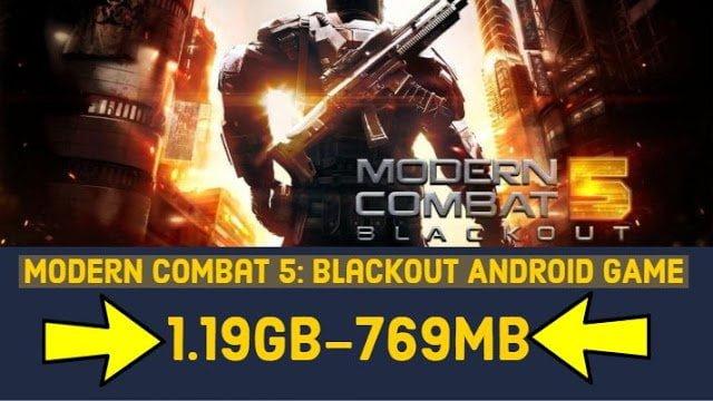 Modern Combat 5 mod Apk Highly Compressed 769mb Offline Mod 2019