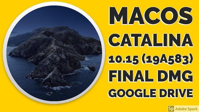 MacOS Catalina 10.15 Final Dmg Download Google Drive 2020