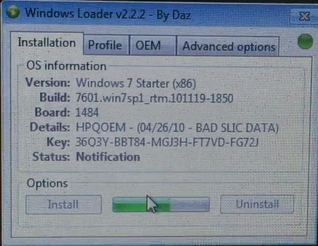 Windows 7 Loader v2.2.2 By Daz 32/64bit Free Download 2021